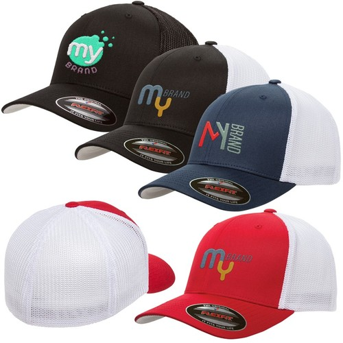Photo of Flexfit® 6 Panel Fitted Trucker Cap