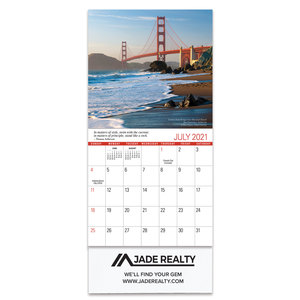 2021 Scenic Mini Wall Calendar