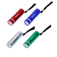 Spectre 9 Led Aluminum Flashlight W/Strap