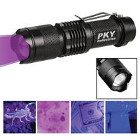 Tactical Black Ultraviolet (Uv) Led Flashlight
