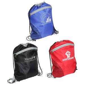 Mesh Curve Drawstring Backpack