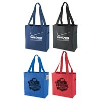 600 D Polyester Tote Bag W/Side Pocket