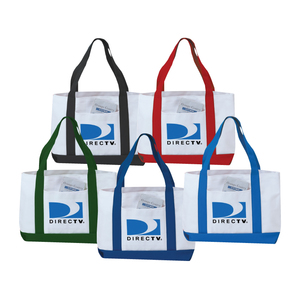 600 D Polyester 2 Tone Tote Bag