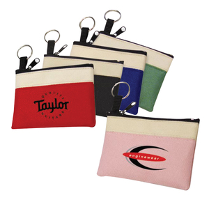 600 D Polyester Two Tone Coin Pouch