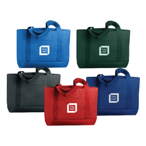 600 D Polyester Solid Color Tote Bag