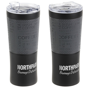 Cambridge 16 Oz Copper Coated Tumbler With Silicone Wrap