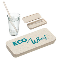 Wheat Straw Kit With Cleaning Brush