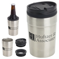 12 Oz Copper Coated Tumbler + Can Cooler