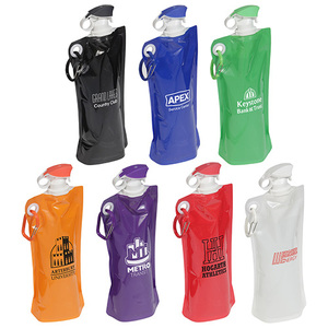 27 Oz Foldable Water Bottle With Carabiner