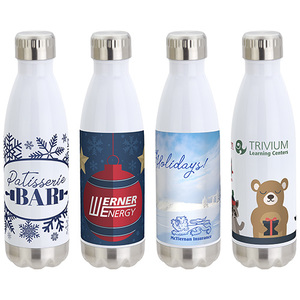 17 Oz Vacuum Insulated Stainless Steel Bottle With Winter Stock Art