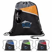 Tri Tone Drawstring Backpack