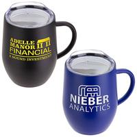 12 Oz Vacuum Insulated Ceramic Inside Coated Coffee Mug