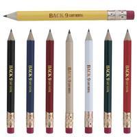 Round Golf Pencil With Eraser