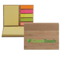 Bamboo Sticky Notepad   Color Jet