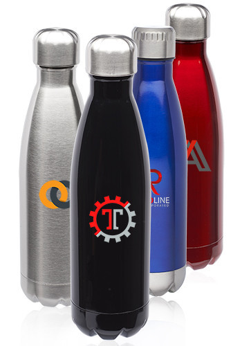 17oz Stainless Steel Levian Cola Shaped Bottles
