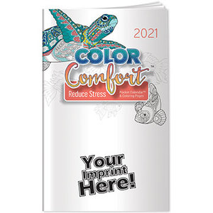 Pocket Calendar 2021 Reducing Stress Color Comfort