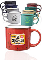 13 Oz. Ceramic Custom Campfire Coffee Mugs