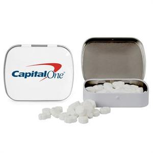 Domed Tin With Dollar Sign Shaped Mints