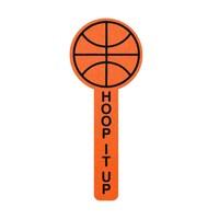 """15"""" Basketball Foam Cheerstick"""