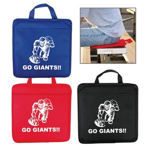 Non Woven Stadium Cushion With Front Pocket