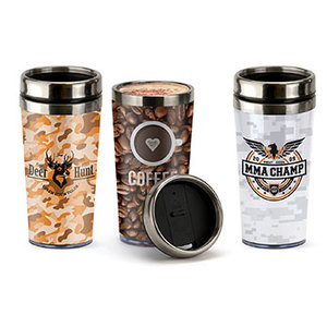 16oz. Steel Tumbler With Paper Insert