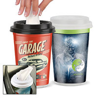 40 Facial Tissues In A Plastic To Go Cup