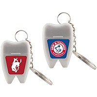 Tooth Shaped Dental Floss Keychain