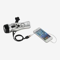 Dynamo Multi Function Flashlight With Usb