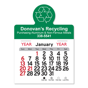 Magnetic Calendar   Recycling