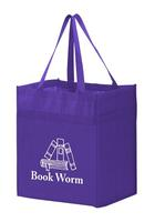 """Heavy Duty Non Woven Grocery Tote Bag With Poly Board Insert (13"""" W X 10"""")"""