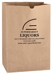 Natural Kraft 1/6 Bbl. Large Sos Grocery Bag