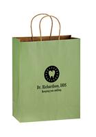 Matte Color Twisted Paper Handle Shopper