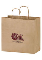 Natural Kraft Paper Take Out Twisted Paper Handle Shopper