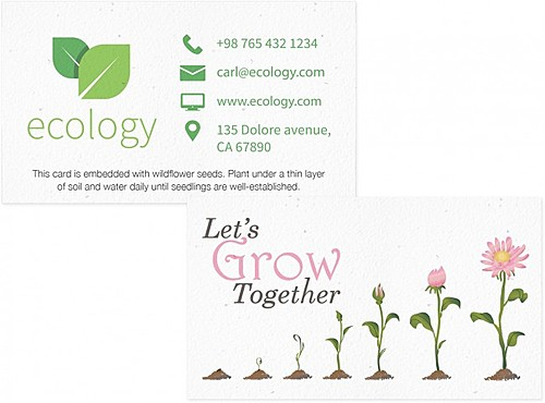 Premium Seeded Paper Business Card