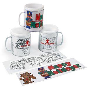 Holiday Coloring Mug