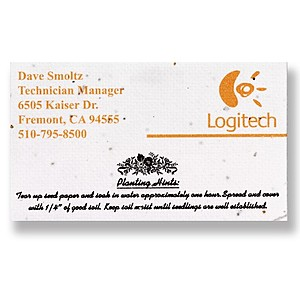 Seeded Paper Business Card