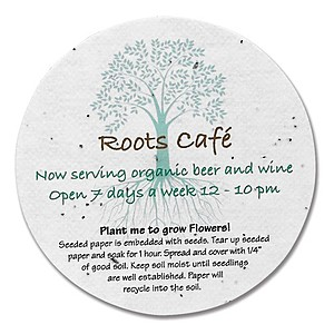 Seeded Paper Round Coaster