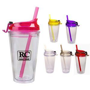 16oz Cup W/Straw