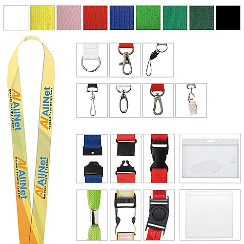 "1"" Polyester Color Lanyard"