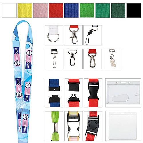 "3/4"" Polyester Color Lanyard"