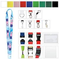"3/8"" Polyester Color Lanyard"