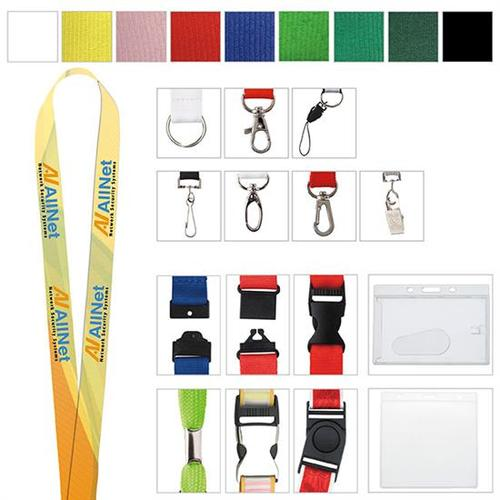 """5/8"""" Polyester Color Lanyard"""