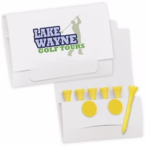"""6 2 Golf Tee Packet Value Pak 2 1/8"""" Tees"""