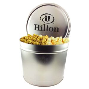 Two Gallon Popcorn Tin   Trio Popcorn