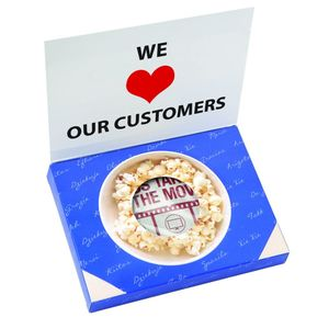 Greeting Card Box With Microwave Popcorn