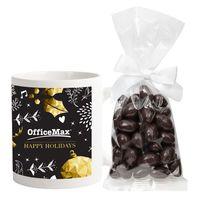11 Oz. Matte Sublimation Mug With Mug Drop Of Dark Chocolate Almonds
