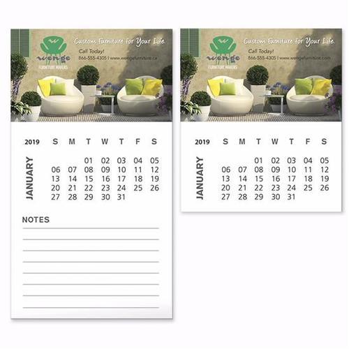 Bic Business Card Magnet With 12 Sheet Calendar