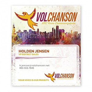 Bic Business Card Magnet With Card Holder