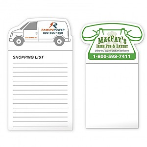 Bic Stock Shape Magnet With 50 Sheet Notepad