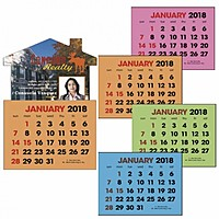 Full Color Stick Up, Colored Paper 2 Color Grid Calendar